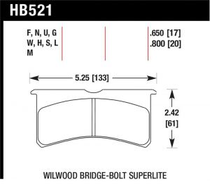 Hawk Performance HB542G.490 DTC-60 Disc Brake Pad